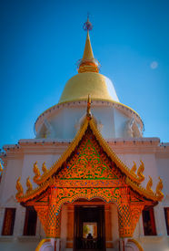 stock photo of lingam  - The North of Thailads style of temple - JPG