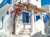 picture of greek  - Traditional greek house on Mykonos island Greece - JPG