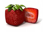 Cubic Strawberry Section