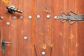 foto of woodcarving  - Ornate wooden doors Bulgaria Banskoold door - JPG