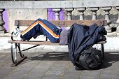 stock photo of sleeping bag  - London - JPG