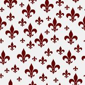 picture of fleur de lis  - Red and White Fleur - JPG