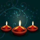 pic of diya  - Vector diwali diya background - JPG