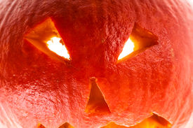 picture of jack-o-laterns-jack-o-latern  - close up shot of a small Jack - JPG