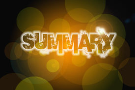 pic of summary  - Summary Concept text on background sign idea - JPG