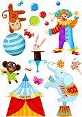stock photo of tabernacle  - vector illustration of a cute circus set - JPG