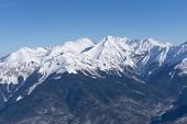 stock photo of olympic mountains  - Mountain landscape of Krasnaya Polyana - JPG