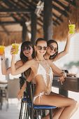 pic of hawaiian girl  - Three young girls with beautiful figure - JPG