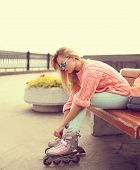 picture of roller-skating  - Fashion extreme youth and people concept  - JPG