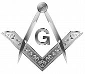 stock photo of mason  - Masonic Square and Compass - JPG