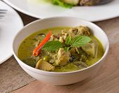 picture of thai cuisine  - Green chicken Curry  delicious  Thai cuisine food - JPG