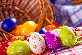 stock photo of egg whites  - Easter egg - JPG
