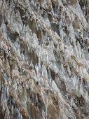 picture of crystal salt  - Natural salt crystals in nature salt mountain Cardona Catalonia Spain - JPG