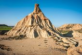 picture of unique landscape  - Unusual and unique landscape at Bardenas reales Navarra Spain - JPG