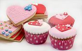 picture of cookie  - Butter cookies decorated with fondant and cupcake - JPG
