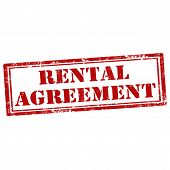 image of rental agreement  - Grunge rubber stamp with text Rental Agreement - JPG