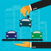 picture of designated driver  - hand of the seller holds key for car and gives to buyer - JPG