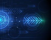 picture of high-speed  - Vector illustration abstract futuristic circuit board - JPG