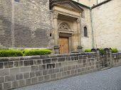 foto of chapels  - a small garden near the chapel in Prague in Roman style - JPG