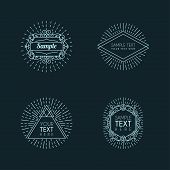 Set Of Hipster Vintage Labels, Logotypes, Insignias, Badges For Your Business poster