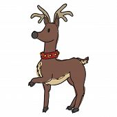 pic of rudolf  - Image of a doodle style christmas reindeer - JPG