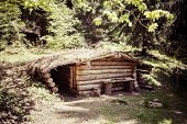 picture of nazi  - Military Bunker in village Kaliste which was detroyed by Nazis during world war II - JPG