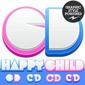 image of letter d  - Vector cute alphabet for children - JPG