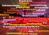 stock photo of frustrated  - Background concept wordcloud multilanguage international many language illustration of frustration glowing light - JPG