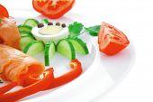 picture of plate fish food  - diet healthy food  - JPG