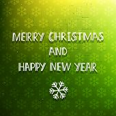 picture of merry christmas text  - Green winter holiday vector congratulations card; hand drawn text Merry Christmas and Happy New  Year - JPG