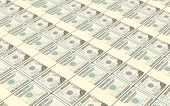 stock photo of twenty dollar bill  - American dollar bills stacks background - JPG