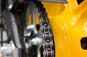 picture of lube  - Enduro motorbike wheel and chain - JPG