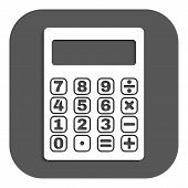 pic of calculator  - The calculator icon - JPG