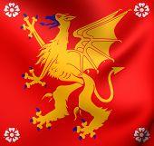 pic of sweden flag  - 3D Flag of Ostergotland County Sweden - JPG