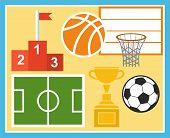 image of basketball  - Colored - JPG