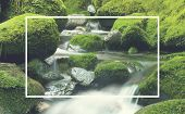 picture of greenery  - Cascading Waterfall Cascading Atmosphere Greenery Concept - JPG