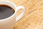 picture of neat  - Neat cup of black coffee  - JPG