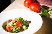 stock photo of vinegar  - Salad with strawberry - JPG