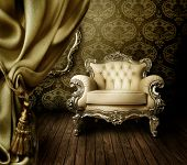 stock photo of interior  - Beautiful Old Styled Interior - JPG