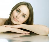 image of middle-age  - Beautiful Spa Woman portrait - JPG