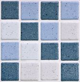 stock photo of ceramic tile  - colorful modern mosaic tile in a bathroom - JPG