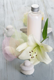 stock photo of body-lotion  - Spa and Body care treatments - JPG