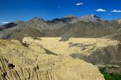 Tourist During Expedition In The Mountains Ladakh Is Admiring The Beautiful Karakorum Panorama In Th poster