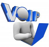 picture of voip  - The word acronym VOIP or V - JPG