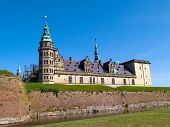 stock photo of william shakespeare  - Kronborg Castle of Hamlet by William Shakespeare Elsinore Helsingor Denmark  - JPG