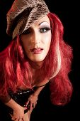 stock photo of transvestites  - Drag Queen - JPG