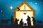 stock photo of nativity scene  - Star of Bethlehem - JPG