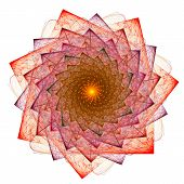 Cabbalistic Star. Rotation Of Polygons. 3d Surreal Illustration. Sacred Geometry. Mysterious Psyched poster