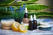 Organic Cosmetics, Natural Fruit Oils. Concept Spa, Skin Care, Ecological And Organic Natural Cosmet poster