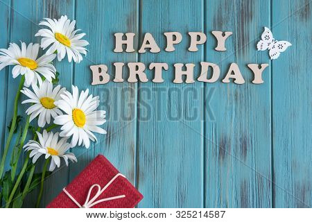 poster of Happy Birthday To You. Birthday Card Design With Flowers For Birthday. Birthday Card For Mother, Gir